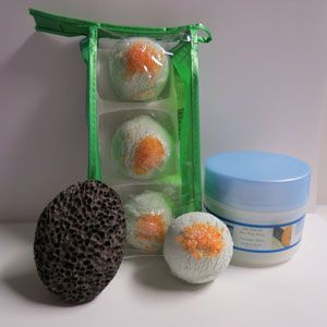 Dead Sea Spa Care Bath Truffles & Shea Butter Gift Set
