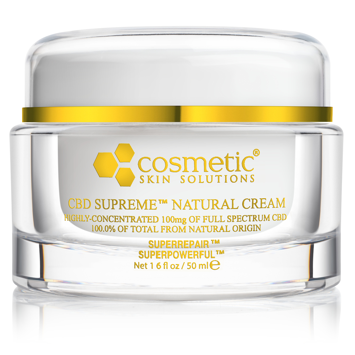 Pain Relief Cream w/ CBD - Cosmetic Skin Solutions - 1.6 oz.