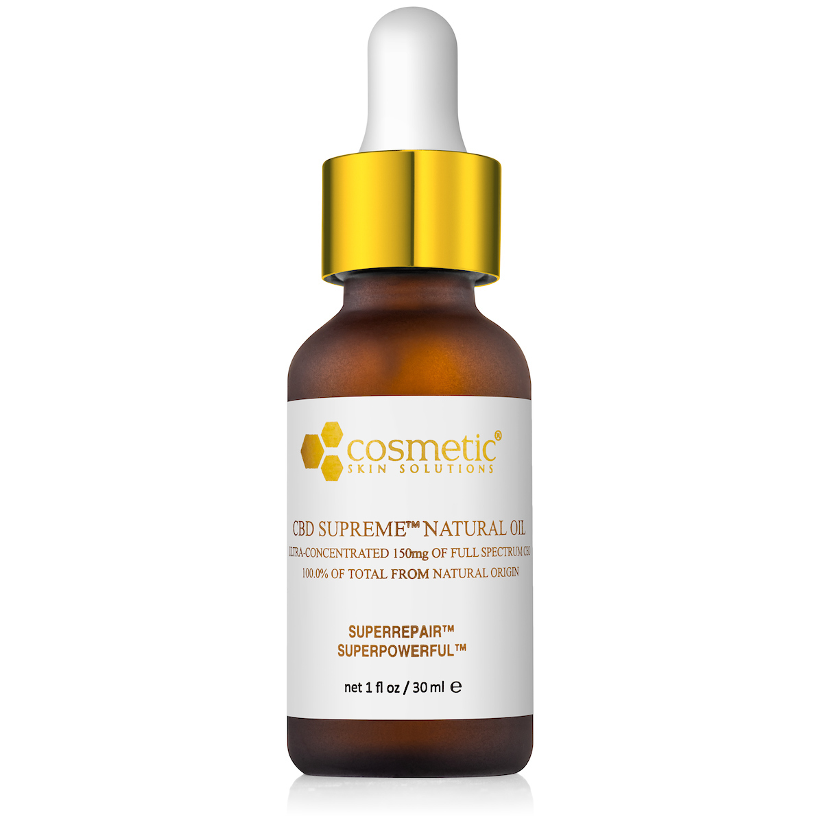 Pain Relief Oil w/ CBD - Cosmetic Skin Solutions - 1.0 oz.