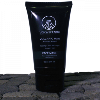 Face Mask for Men w/ Purifying Kaolin Clay by Volcanic Earth – 3.55 oz