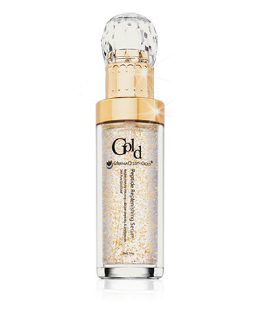 Face Serum w/ Peptides by Dermacessity Gold – 1.7 oz.