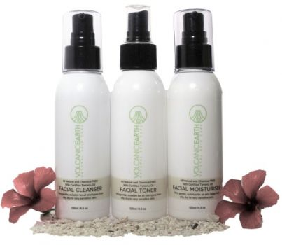 Skin Care Set - Acne Cleanser, Toner, & Moisturizer by Volcanic Earth