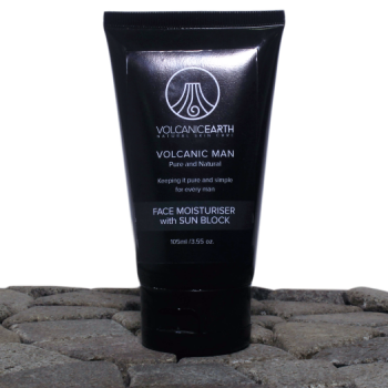 Moisturizer for Men w/ Zinc Oxide Sunblock by Volcanic Earth – 3.55 oz.