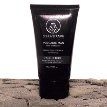 Face Scrub for Men w/ Kaolin Clay by Volcanic Earth – 3.55 oz.
