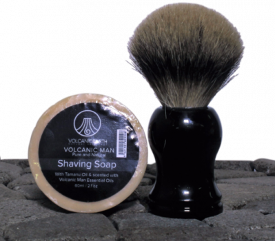 Shaving Soap Refill w/ Tamanu/Coconut Oils by Volcanic Earth – 2.1 oz.