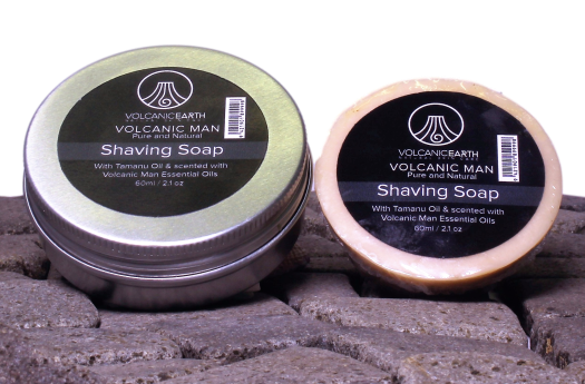 Shaving Soap w/ Tamanu & Coconut Oils by Volcanic Earth – 2.1 oz.